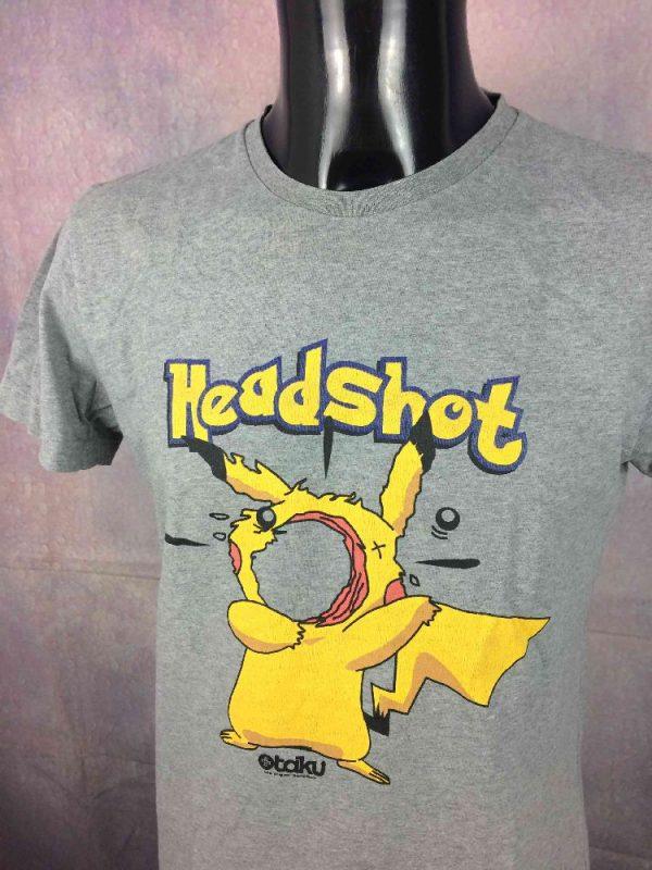 OTAKU T-Shirt Headshot Pikachu Pokemon Game - Gabba Vintage