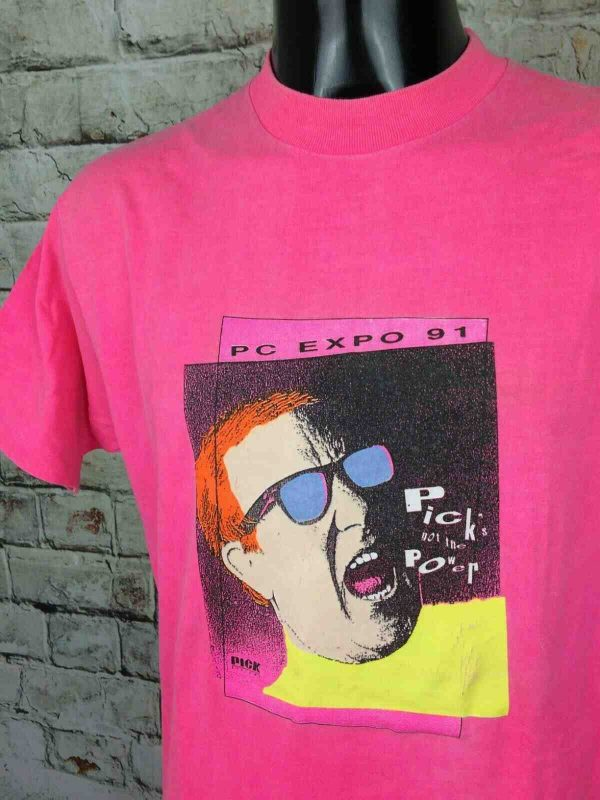 PICK SYSTEME T-Shirt PC Expo 1991 Made in USA - Gabba.. (1)