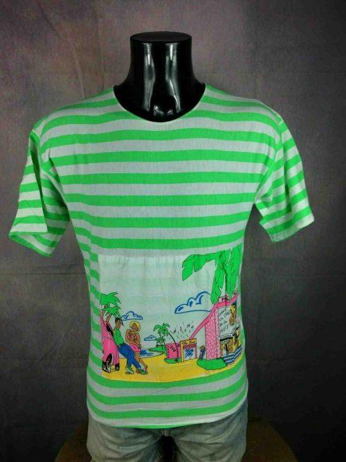 T-Shirt PINK PALACE, Véritable vintage années 80s,Made in France, BD cinema club old school