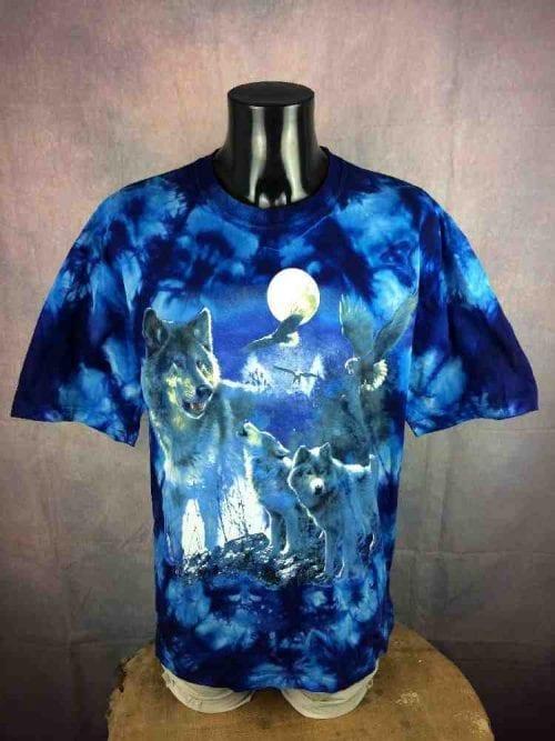 PLANET EARTH T-Shirt Vintage 00s Wolf Tie Dye - Gabba...