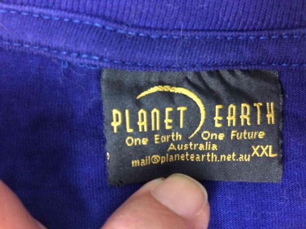 PLANET EARTH T Shirt Vintage 00s Wolf Tie Dye Gabba.. 4 rotated - PLANET EARTH T-Shirt Vintage 00s Wolf Tie Dye