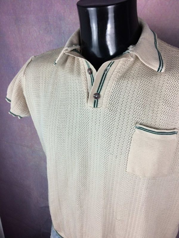 POLO Vintage 70s Grosse Maille Taille Courte - Gabba Vintage
