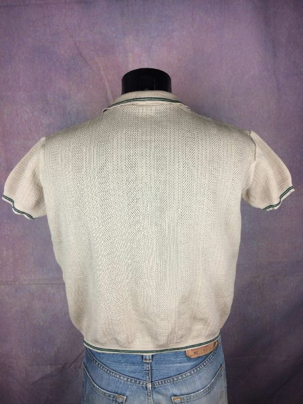 POLO Vintage 70s Grosse Maille Taille Courte Gabba Vintage 4 - POLO Vintage 70s Grosse Maille Taille Courte