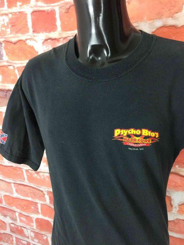 PSYCHO BROS HARDCORE CUSTOMS T Shirt Vintage Gabba Vintage 3 - PSYCHO BROS HARDCORE CUSTOMS T-Shirt Vintage