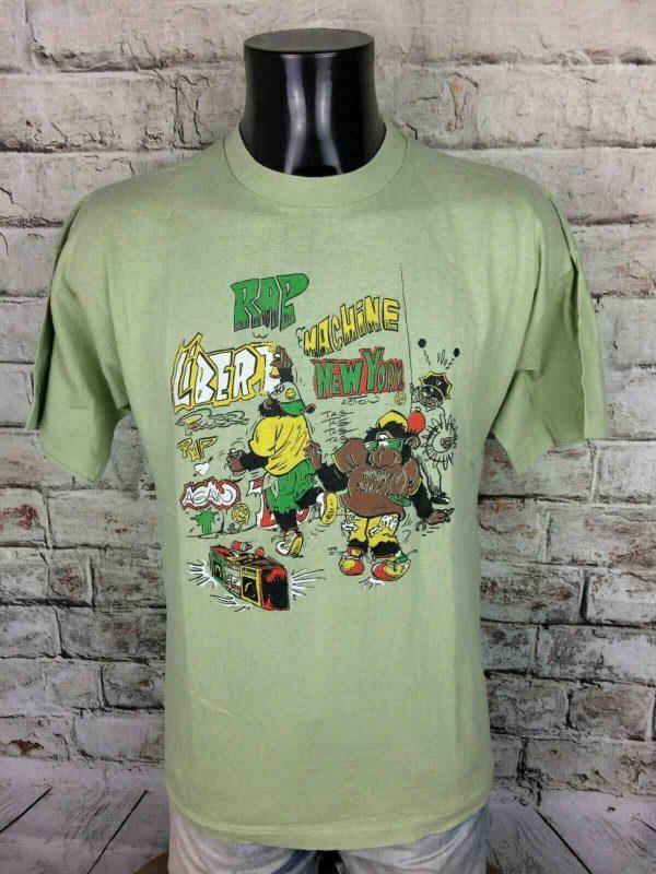 RAP MACHINE T Shirt Vintage 80s New York Gabba Vintage 2 - RAP MACHINE T-Shirt Vintage 80s New York