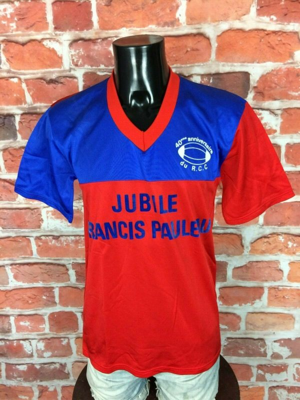 RCC Maillot Vintage 80s Made in France Rugby - Gabba Vintage