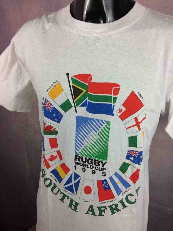 RUGBY WORLD CUP 1995 T Shirt IRB Vintage 90s Gabba Vintage 3 - RUGBY WORLD CUP 1995 T-Shirt IRB Vintage 90s