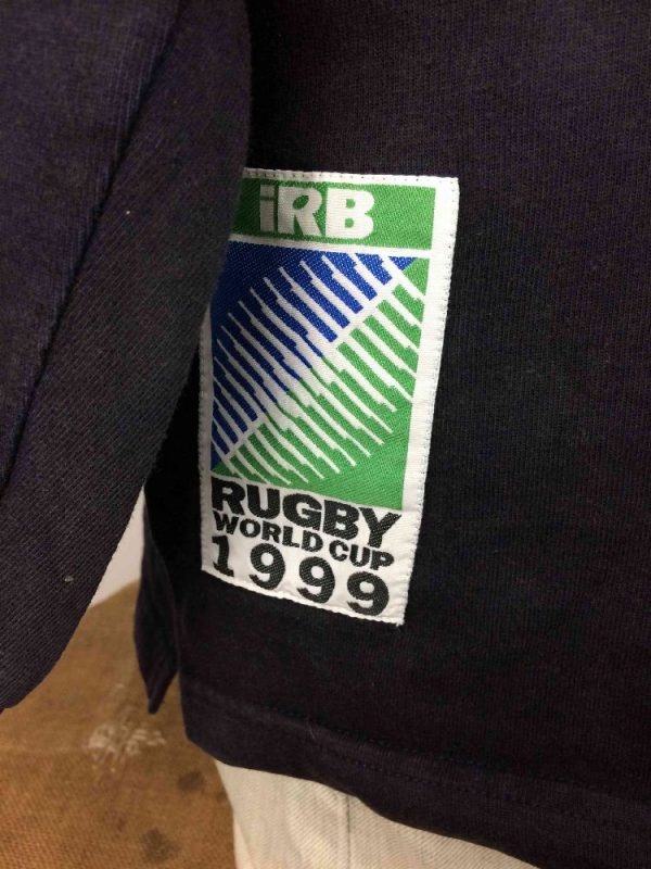 RUGBY WORLD CUP 1999 Polo Vintage 90s IRB Gabba Vintage 3 - RUGBY WORLD CUP 1999 Maillot Vintage 90s IRB