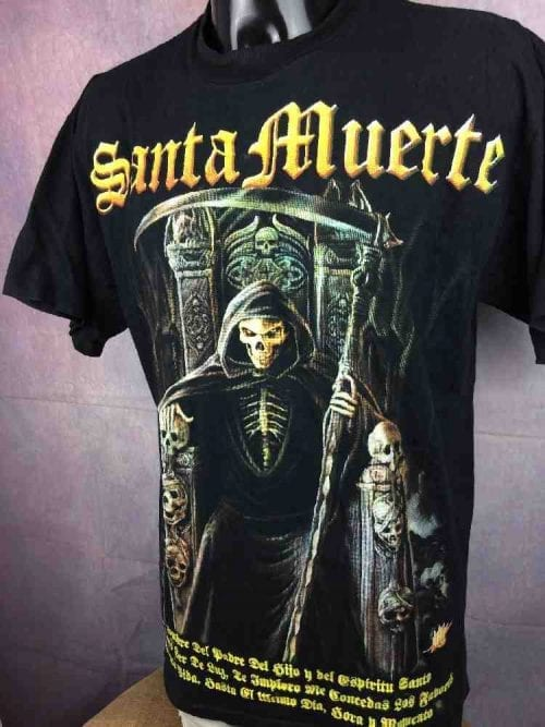 T-Shirt SANTA MUERTE, Marque Rock Revolucion, Producto Oficial, De la Banda Para La Banda, Metal Heavy Band Gang Black