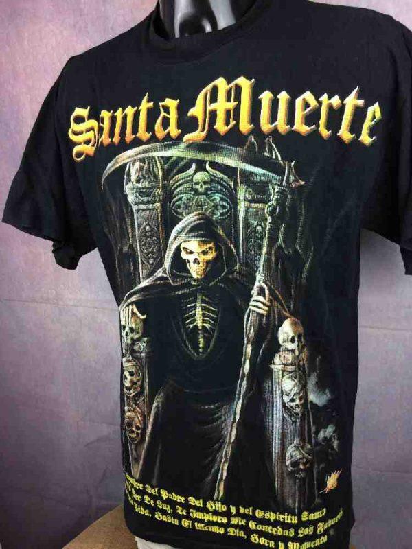 SANTA MUERTE T-Shirt Rock Revolution Death - Gabba Vintage