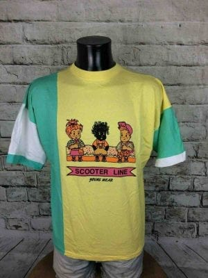 SCOOTER LINE T-Shirt Vintage 90s California - Gabba Vintage (1)