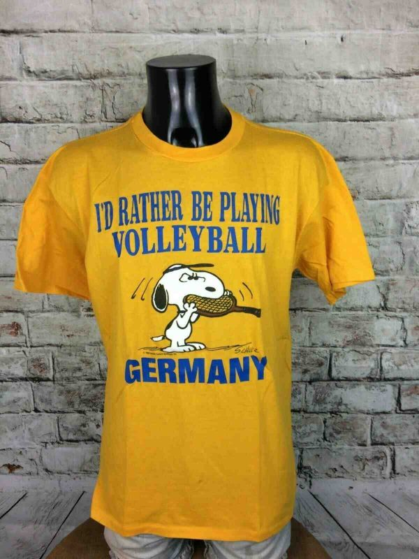 SNOOPY T Shirt Made in USA Vintage 80s Volley Gabba.. 1 - SNOOPY T-Shirt Made in USA Vintage 80s Volley