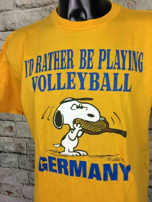 SNOOPY T-Shirt Made in USA Vintage 80s Volley - Gabba.. (2)