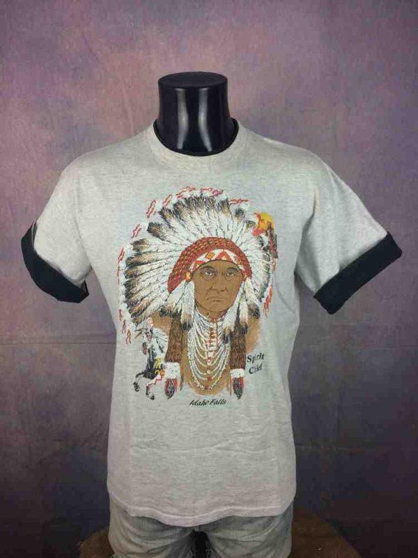 SPIRIT CHIEF T-Shirt Vintage 90s Belton USA - Gabba Vintage