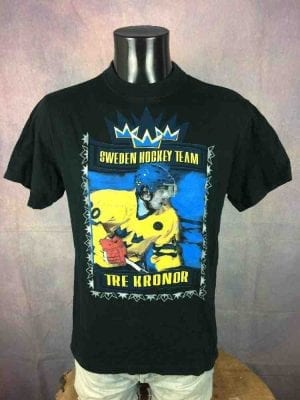 SWEDEN Hockey Team T-Shirt Sjodin Vintage 00s - Gabba.. (2)