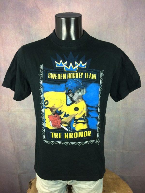 SWEDEN Hockey Team T-Shirt Sjodin Vintage 00s - Gabba.. (2)