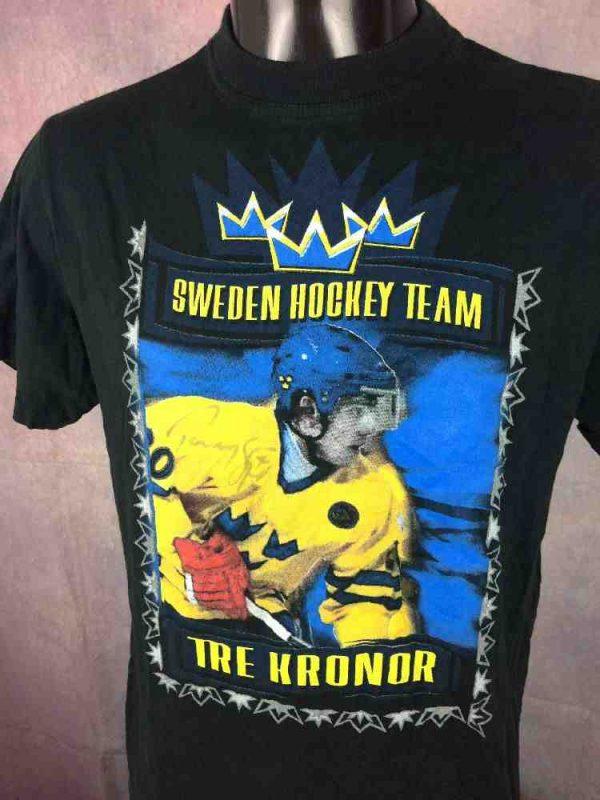 SWEDEN Hockey Team T Shirt Sjodin Vintage 00s Gabba.. 3 - SWEDEN Hockey Team T-Shirt Sjodin Vintage 00s