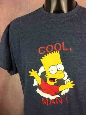 THE SIMPSONS T-Shirt Cool Bart Vintage 2002 - Gabba Vintage (1)