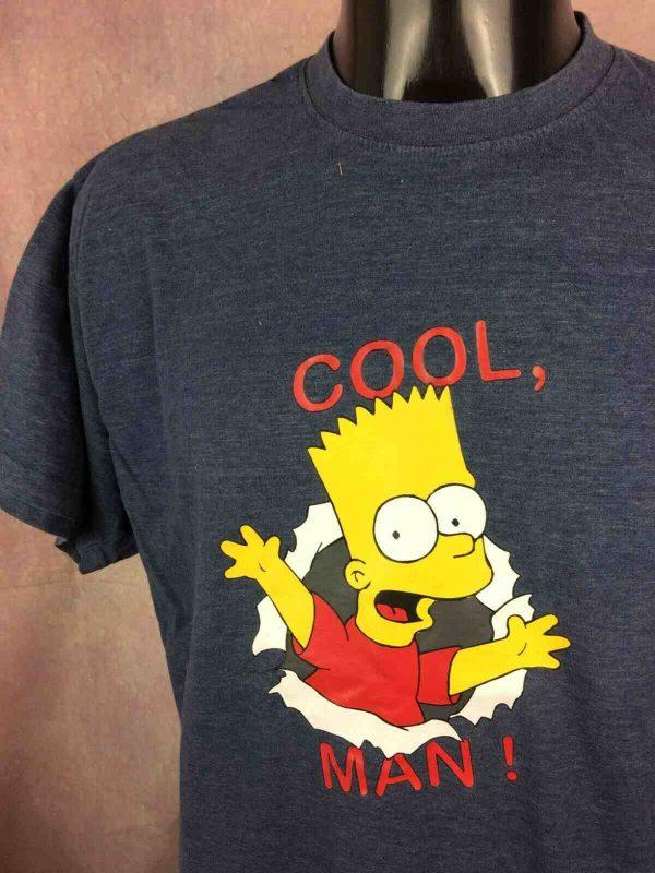 THE SIMPSONS T-Shirt Cool Bart Vintage 2002 - Gabba Vintage (1)