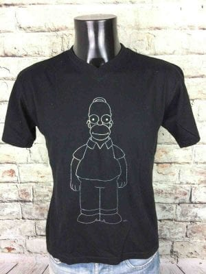THE SIMPSONS T-Shirt Homer Official Argent - Gabba Vintage (1)