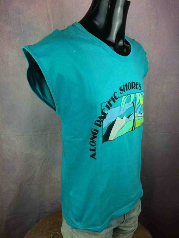 THINK PINK T Shirt Vintage 80s Made in Italy Gabba Vintage 2 - THINK PINK T-Shirt Vintage80s Made in Italy