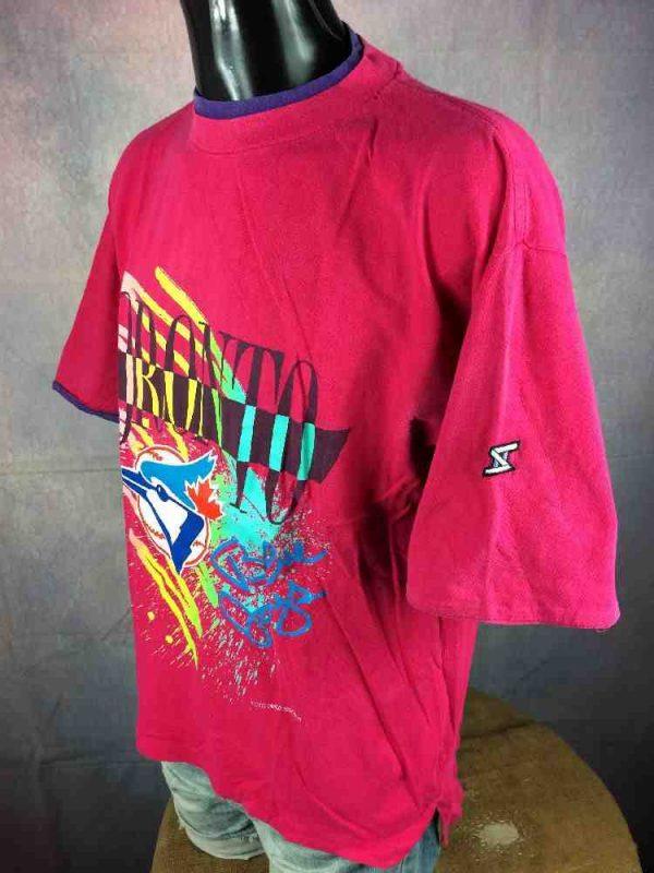 TORONTO BLUE JAYS T Shirt Vintage 1990 MLB Gabba Vintage 6 - TORONTO BLUE JAYS T-Shirt Vintage 1990 MLB