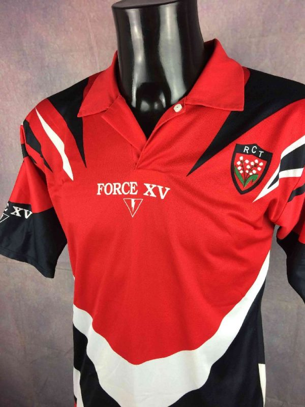 TOULON Racing Club Maillot 2000 Vintage Rugby Gabba.. 3 - TOULON RCT Maillot 2000 2001 Vintage Rugby