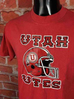 UTAH UTES T-Shirt Made in USA Vintage 80s - Gabba Vintage