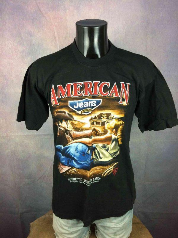 american jeans t-shirt-france-vintage-90s