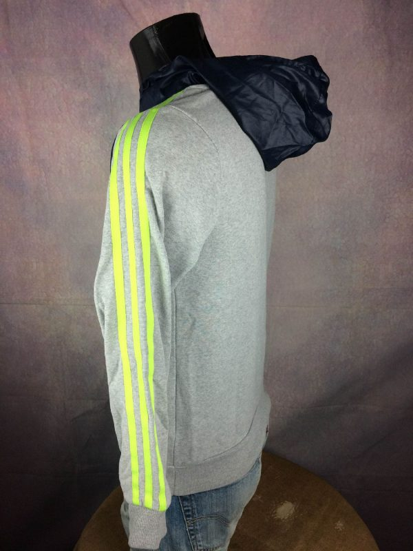 ADIDAS SweatShirt Capuche Big Trefoil Fluo Gabba Vintage 4 - ADIDAS Sweat Capuche Trefoil Fluo Unisex