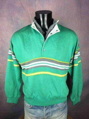 ADIDAS Sweatshirt Made in France Vintage 80s - Gabba Vintage (1)