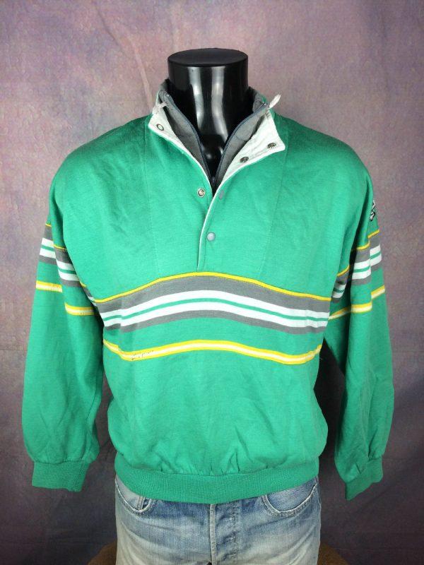 ADIDAS Sweatshirt Made in France Vintage 80s - Gabba Vintage (1)