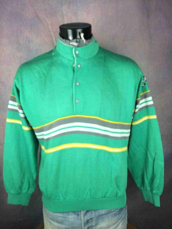 ADIDAS Sweatshirt Made in France Vintage 80s Gabba Vintage 3 - ADIDAS Sweatshirt Made in France Vintage 80s