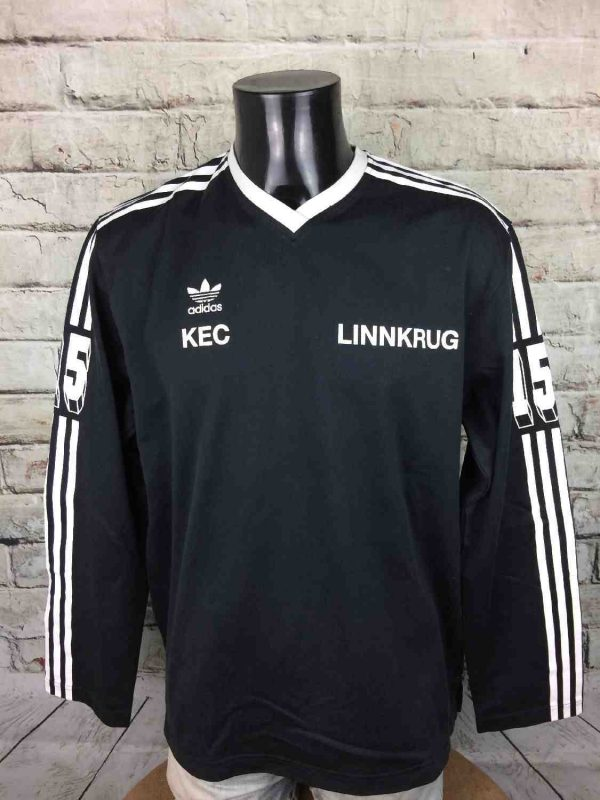 T-Shirt ADIDAS , édition Linnkrug KEC #15, Daté du 07/05, Retro Vintage 1982 Ice Hockey Trikot Camiseta Jersey