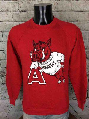 ARKANSAS RAZORBACK Sweatshirt Vintage 90s NFL - Gabba...