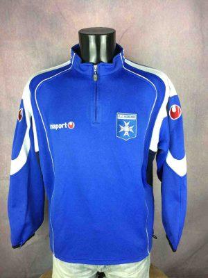 Sweat AUXERRE, marque Uhlsport, Saison 2004 2006, Entrainement Training Warm UpAJA France Ligue 1 Playstation France Ligue Unisex Sweater SweatShirt