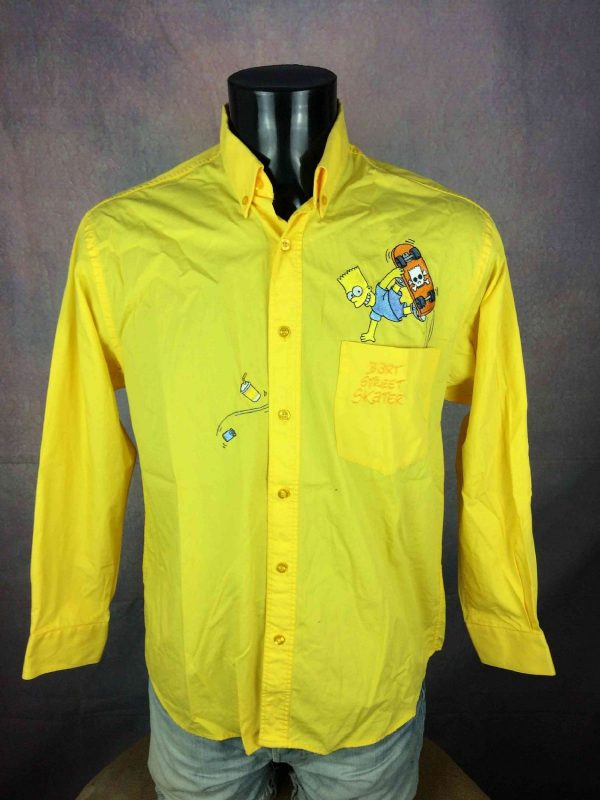 BART Street Skater Chemise Simpsons Vintage Gabba Vintage 2 - BART Street Skater Chemise Simpsons Vintage