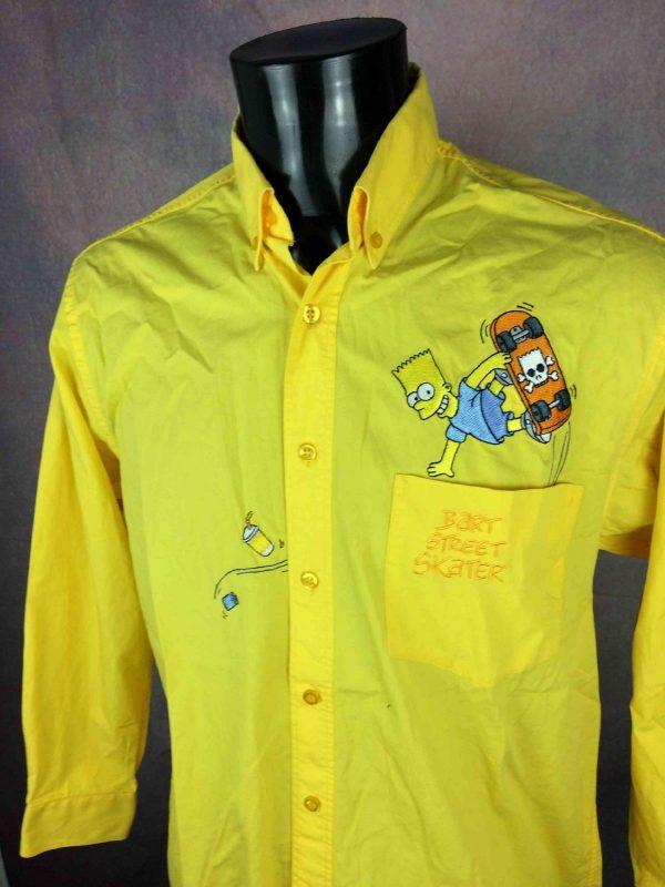 BART Street Skater Chemise Simpsons Vintage - Gabba Vintage