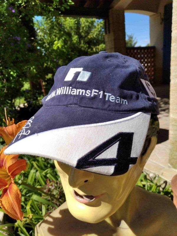 Casquette BMW Williams Team F1, véritable vintage année 2004, broderie Ralf Schumacher et numéro 4, licence officielle, Cap GorraHat Formula One