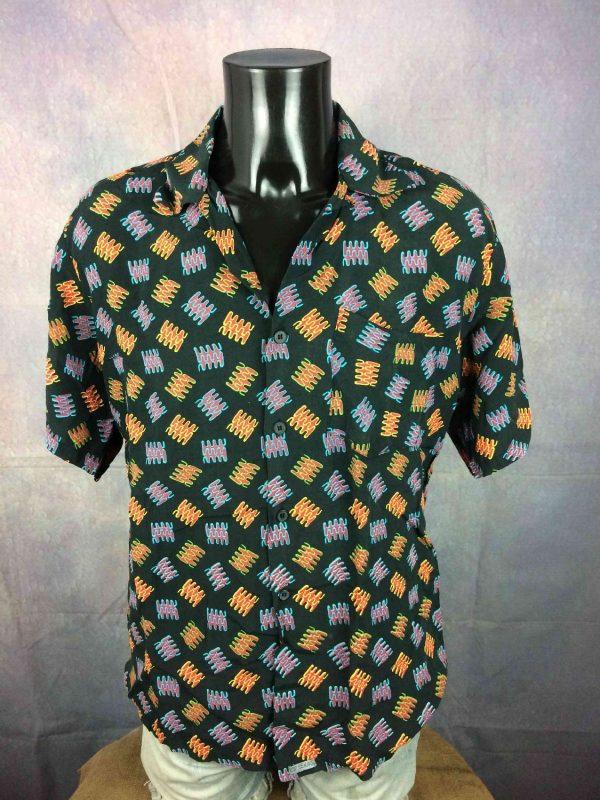 C17 Jeans Chemise Vintage 90s Noir Art Rock Gabba Vintage 2 - C17 Jeans Chemise Vintage 90s Noir Art Rock