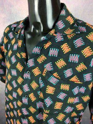 C17 Jeans Chemise Vintage 90s Noir Art Rock - Gabba Vintage