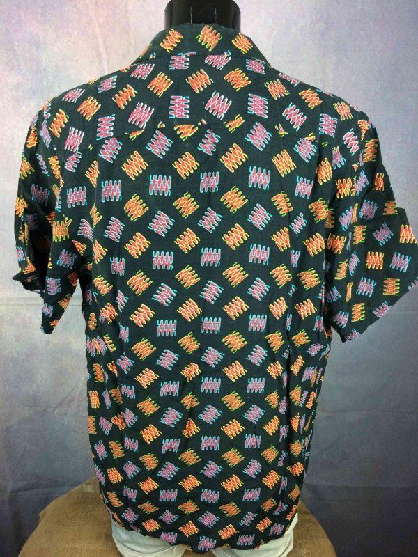 C17 Jeans Chemise Vintage 90s Noir Art Rock Gabba Vintage 4 - C17 Jeans Chemise Vintage 90s Noir Art Rock