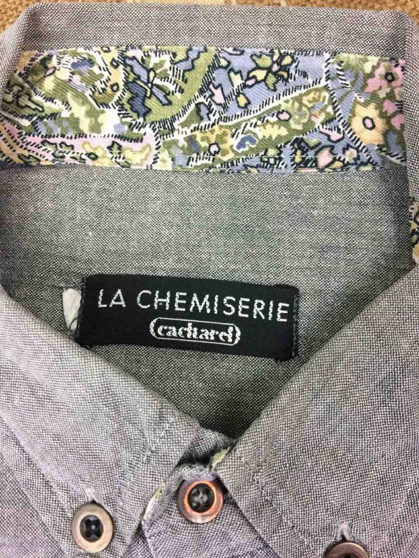 CACHAREL La Chemiserie Chemise Vintage 90s Gabba Vintage 1 - Chemise Cacharel Vintage Année 90 Homme Gris