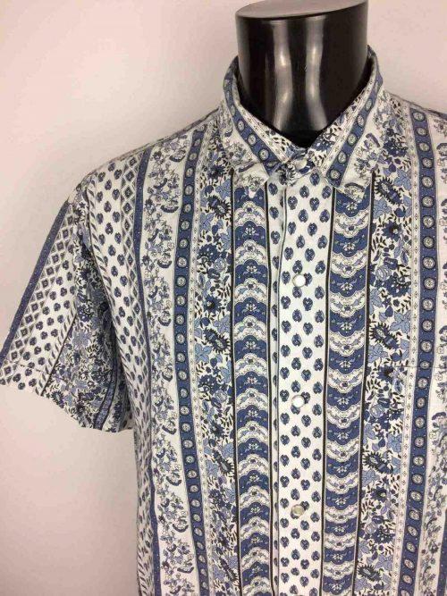 CAMARGUE Chemise Bouton Nacre Vintage 80s - Gabba Vintage