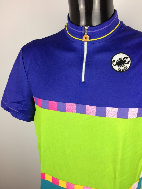 CASTELLI Made in Italy Maillot Vintage 90s Gabba Vintage 3 - CASTELLI Made in Italy Maillot Vintage 90s