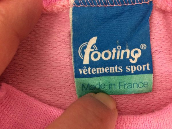 FOOTING SweatShirt Vintage 80s Made in France Gabba.. 6 rotated - FOOTING SweatShirt Vintage 80s Made in France