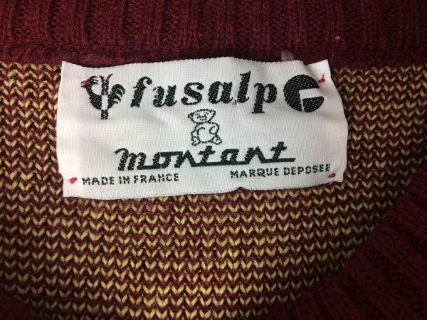 FUSALP Pullover Made in France Vintage 90s Gabba Vintage 5 rotated - FUSALP Pull Made in France Vintage 90s Ski