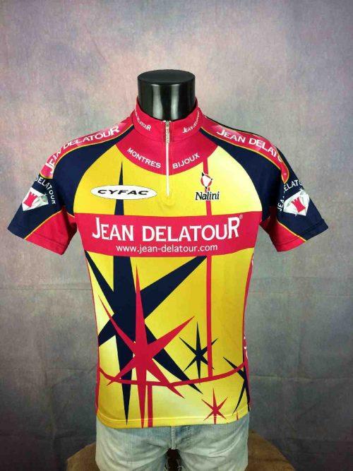 Maillot JEAN DELATOUR, équipe présente au Tour de France, Team Nalini Cyfac Vintage 2001, France Cycle Vélo Cyclisme Cycling Jersey