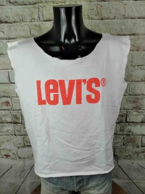 LEVIS Sweatshirt Muscle Red Tab Cut-Off - Gabba Vintage