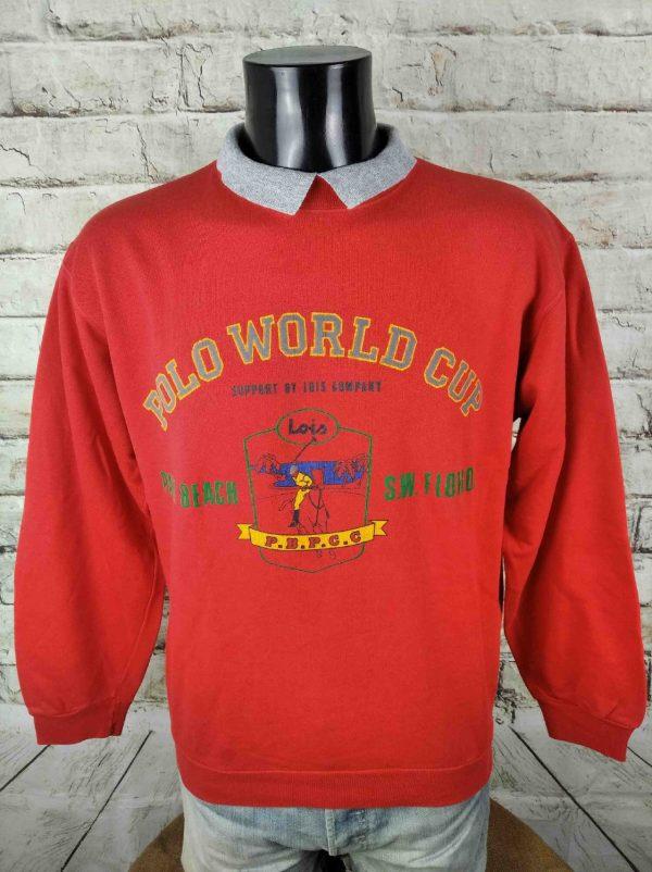 LOIS SweatShirt Vintage 80s Polo World Cup - Gabba Vintage (2)